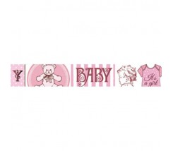Washi Tape Baby Rosa Stamperia 2 cm
