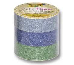 Pack de 3 Washi Tape Glitter 5 m