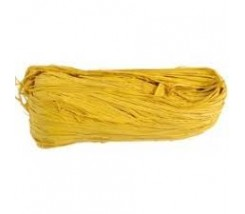 Rafia _Natural de colores Amarillo 100 g
