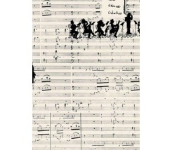 Papel Decoupage 50 x 70 cm Partitura Musical