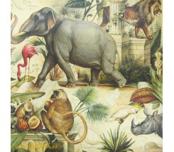 Papel Decoupage 0,70 x 100 m Animales Salvajes