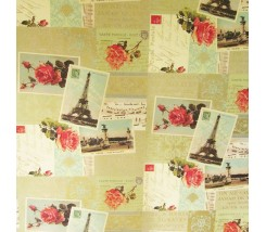 Papel Decoupage 0,70 x 100 m Cartas de Paris