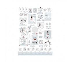 Papel de Arroz Decorado 35 x 50 cm Wedding Day