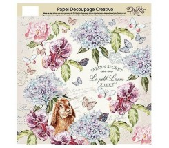 Papel Decoupage Creativo  32 x 34 cm Jardin Secret