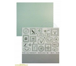 Papel Scrapbooking Merry Christmas Marcos