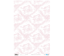 Papel Cartonaje 32 x 48,3 cm Toile de Jouy Rosa Be