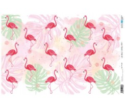 Papel Cartonaje 32 x 48,3 cm Flamingo Party