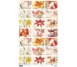 Papel de Arroz Decorado 33 x 54 cm Flowers & Stamp
