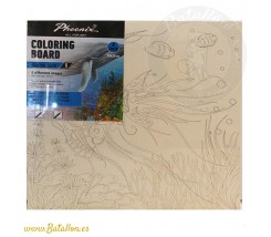 Pack 4 Tablillas para Colorear 25 x 25 cm Marine