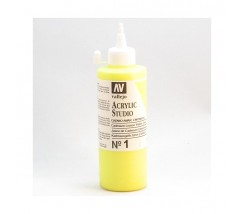 Tubo Vallejo Acrylic Studio 200 ml Amarillo