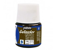 Setacolor Telas Claras 45 ml Marrón Velvet 14