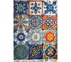 Papel de Arroz Decorado 30 x 42 cm Mosaicos Arabes
