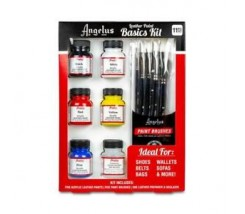 Kit Basico para Pintar Cuero 11 pc - Angelus