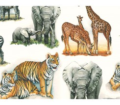 Papel para decoupage animales africanos