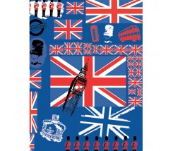 "Papel Fino Decopatch Nº 530 ""British"" 30X40 cm"