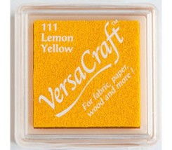 "Tampón de tinta pequeño color amarillo Lemon Yellow ""Versacraft"""