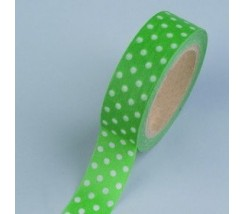 "Washi tape puntos blanco verde 15mm. ""Efco"""
