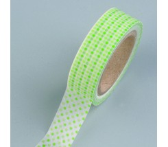 "Washi tape puntos verde blanco 15mm. ""Efco"""