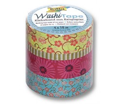 "Pack de 4 Washi tape floreado ""Folia"""