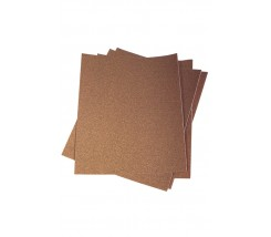 Papel de Lija 230 x 280 mm -60 Marron Gruesa