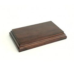 Peana Rectangular Nogal 38 x 17,5 cm