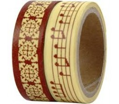 Pack de 2 Washi Tape musical 15 mm - 2 x 5 m