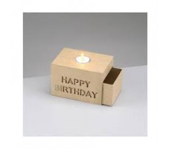 Caja de Papel Mache Happy Birthday