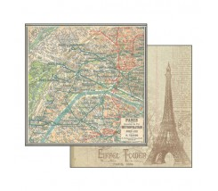 Papel Scrapbooking Plano Paris Stamperia