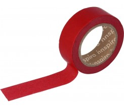 Washi Tape Masking Tape Lisos Rojo