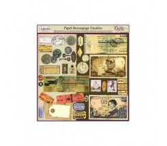 Papel Decoupage Creativo 32 x 34 cm Monedas