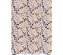 Papel Cartonaje 32 x 48,3 cm Paisley Gold Blue