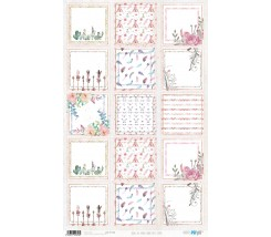 Papel de Arroz Decorado 33 x 54 cm Boho Chic Cards