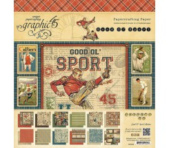 "Bloc de 24 hojas 20x20 cm ""Good Ol´ Sport collection"""