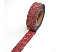 "Washi brillante rojo 15 mm. ""Perfect match"""