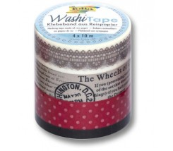 "Pack de 4 Washi tape vintage ""Folia"""