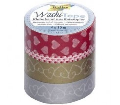 "Pack de 4 Washi tape corazones ""Folia"""