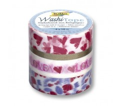 "Pack de 4 Washi tape love ""Folia"""