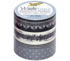 "Pack de 4 Washi tape notas y puntos ""Folia"""